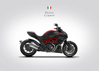 Ducati Diavel Carbon Poster by Mark Rogan