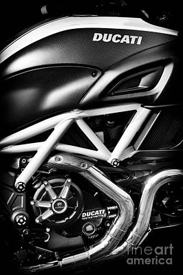 Ducati Monster Poster by Tim Gainey