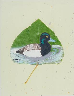 Duck On Pond #2 Poster