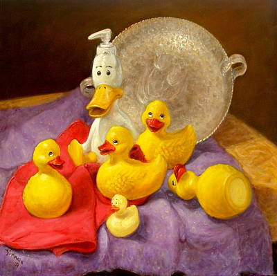Poster featuring the painting Duck Soap by Donelli  DiMaria