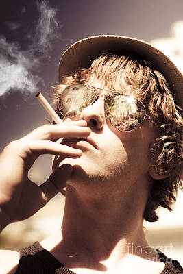 Dude Smoking Cigarette Poster by Jorgo Photography - Wall Art Gallery