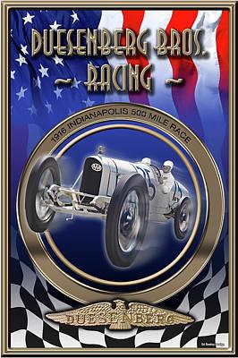 Duesenberg Bros. Racing Poster