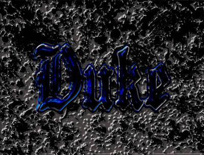 Duke Blue Devils 1d Poster by Brian Reaves