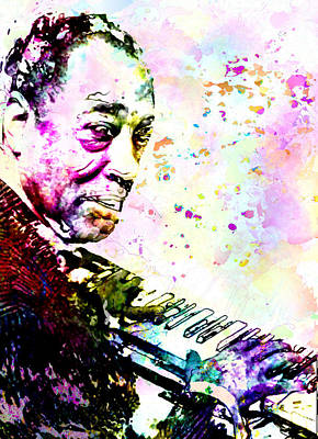Duke Ellington Poster by Elena Kosvincheva