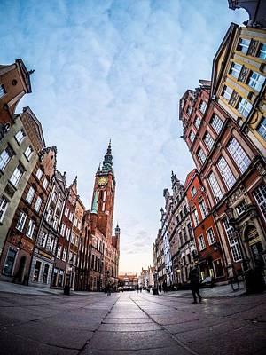 Dulga Street - Gdansk Poster by Michael Dolicke