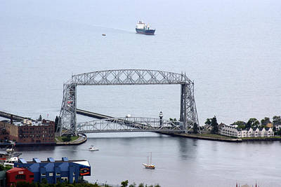 Poster featuring the photograph Duluth Lift Bridge On A Grey Day by Ron Read