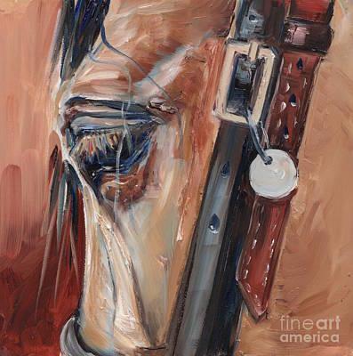 Dun Horse Eye Oil Painting Poster