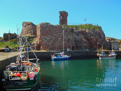 Dunbar Castle And Harbour Poster