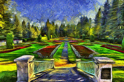 Duncan Gardens Van Gogh Style Poster by Mark Kiver