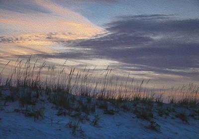 Dune Grass Blue Poster