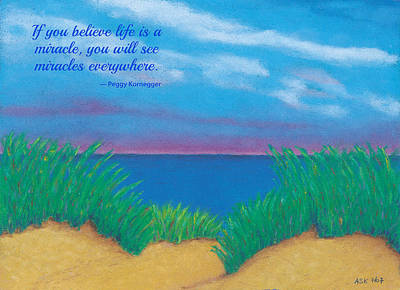 Dunes At Dawn - With Quote Poster