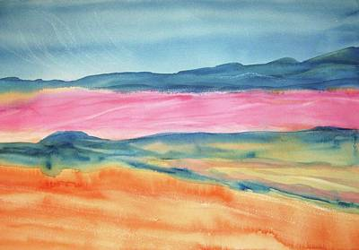 Poster featuring the painting Dunes by Ellen Levinson