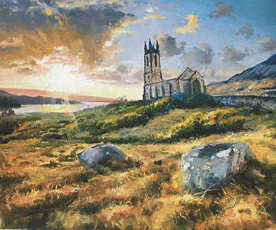 Dunlewy Church Poster by Conor McGuire