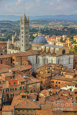 Poster featuring the photograph Duomo Di Siena by Spencer Baugh