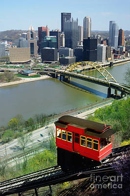 Duquesne Incline Pittsburgh Pa Poster by Amy Cicconi