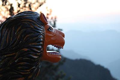 Durga's Lion, Rishikesh Poster by Jennifer Mazzucco