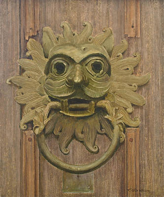 Durham Cathedral Door Knocker Poster