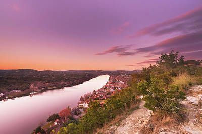 Dusk At Mount Bonnell In Austin, Texas Poster