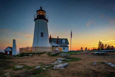 Dusk At Pemaquid Point Poster