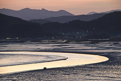 Poster featuring the photograph Dusk At Suncheon Bay by Ng Hock How