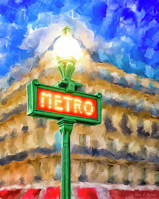 Poster featuring the mixed media Dusk Done Parisian Style by Mark Tisdale