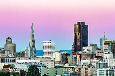 Dusk In San Francisco Poster by Bill Gallagher
