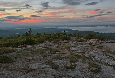 Poster featuring the photograph Dusk On Cadillac Ountain by Stephen  Vecchiotti