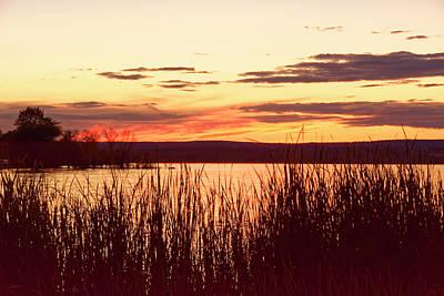 dusk on Lake Superior Poster