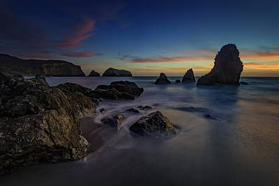 Dusk On Rodeo Beach Poster