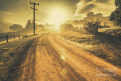 Dusty Small Town Road Poster by Jorgo Photography - Wall Art Gallery