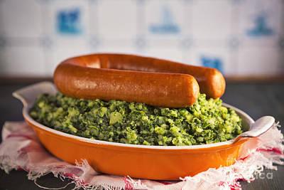Dutch Food Kale With Smoked Sausage Or Boerenkool Met Worst Poster