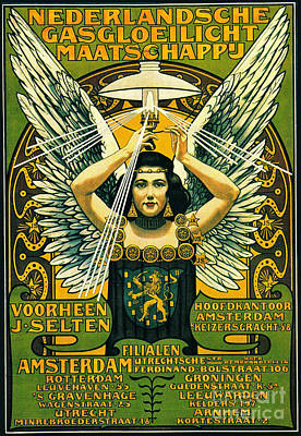 Dutch Gaslight Ad 1897 Poster by Padre Art
