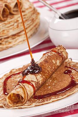 Dutch Pancakes With Syrup Or 'pannenkoeken Met Stroop' Poster