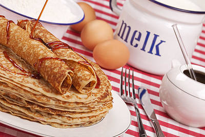 Dutch Pancakes With Syrup Poster