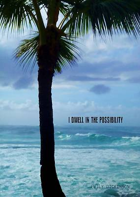 Dwell In Paradise Quote Poster