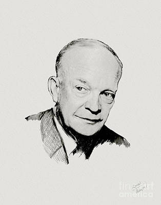 Dwight D Eisenhower Poster by Charles Thayer