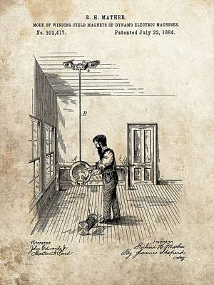 Dynamo Electric Machine Field Magnet Patent Poster