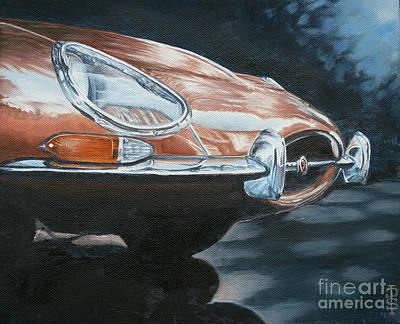 E-type Jaguar Poster by Pauline Sharp