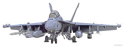 Ea-18g Up And Ready Poster
