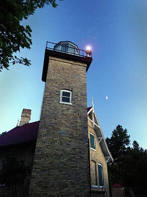 Eagle Bluff Light Poster by David T Wilkinson