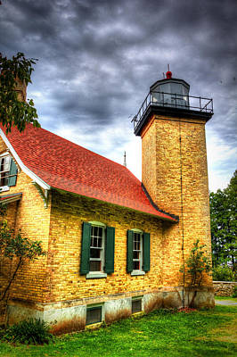 Eagle Bluff Lighthouse 2 Poster by Robert Storost