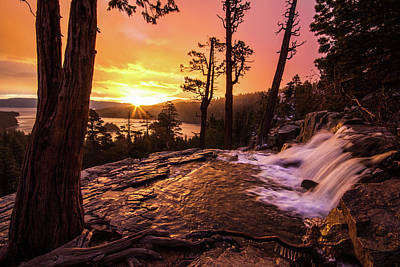 Eagle Falls Sunrise Poster
