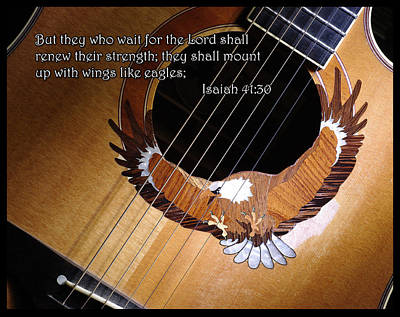 Poster featuring the photograph Eagle Guitar by Jim Mathis