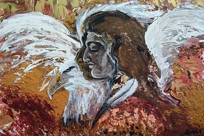 Eagle Spirit Warrior Poster by Alma Yamazaki