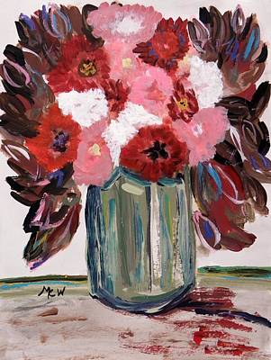 Early Autumn Bouquet Poster by Mary Carol Williams