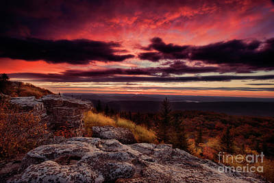 Early Day At Bear Rocks Dolly Sods Wv Poster