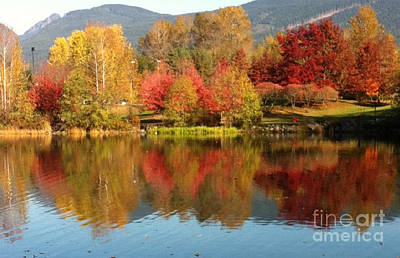 Early Fall At Lafarge Lake Poster by Rod Jellison