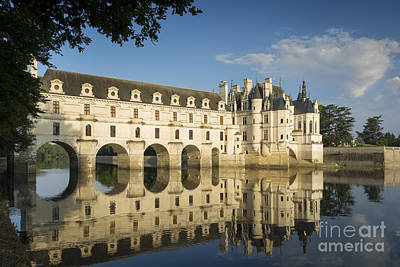 Early Morning At Chateau Chenonceau Poster