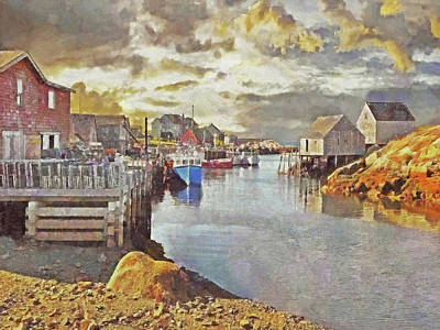 Early Morning At Peggy's Cove In Nova Scotia Poster