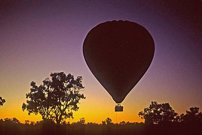 Poster featuring the photograph Early Morning Balloon Ride by Gary Wonning